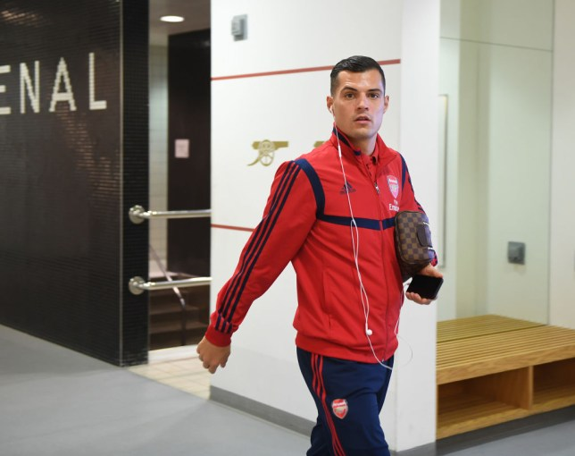 Granit Xhaka clashed with Arsenal fans during the Premier League clash against Crystal Palace