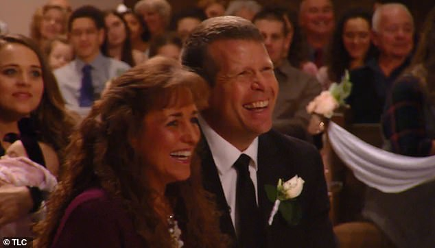 Just hilarious! John's mom and dad, Jim Bob and Michelle, laughed in the audience