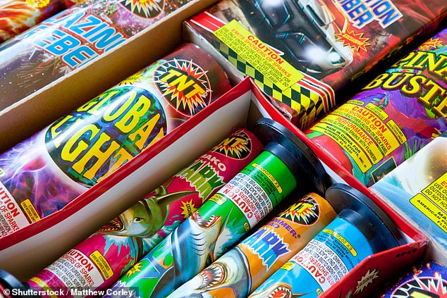 The Government has been slammed for failing to close in on the market which are able to get away with selling fireworks looking like 'toys' (pictured)