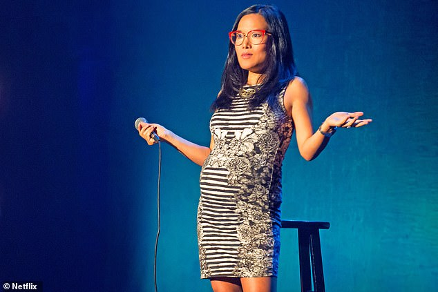 The researchers caution that the findings do not suggest all men are funnier than all women — with many women comedians being funnier than '99. per cent' of men. Pictured,American stand-up comedian and actress Ali Wong