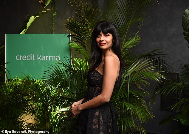 'Promoting this message': Jameela is now adamant for others not to make the same mistake at her - Pictured at the Credit Karma's Credit Karma Savings event on Wednesday night