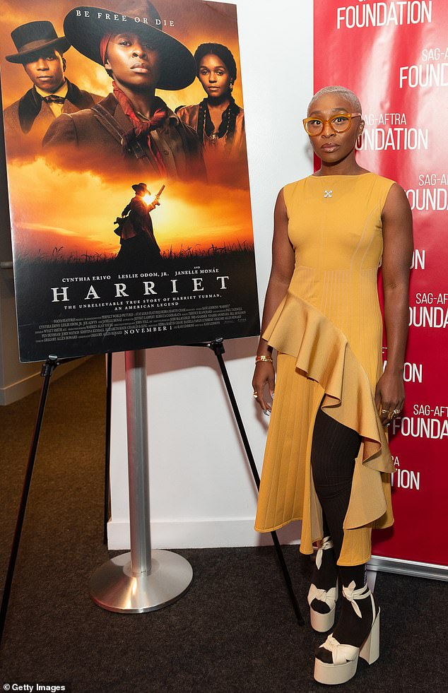 Acclaimed: The British-born actress has been getting some Oscar buzz for her role in Harriet