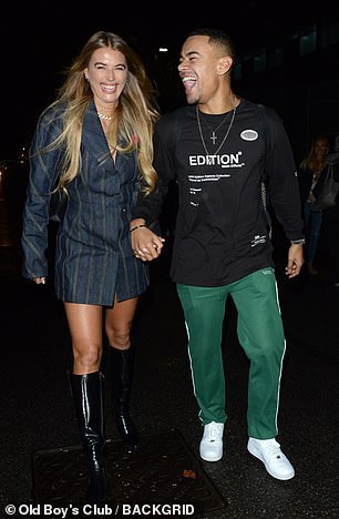 Edgy: Wes donned green tracksuit bottoms and a black long-sleeve T-shirt