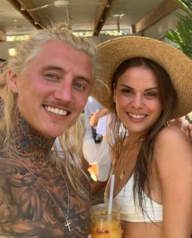 Reunited: Ciarran will be joined on Bachelor in Paradise by his ex-girlfriend, Renee Barrett (right), who had previously appeared on Matt Agnew's season of The Bachelor