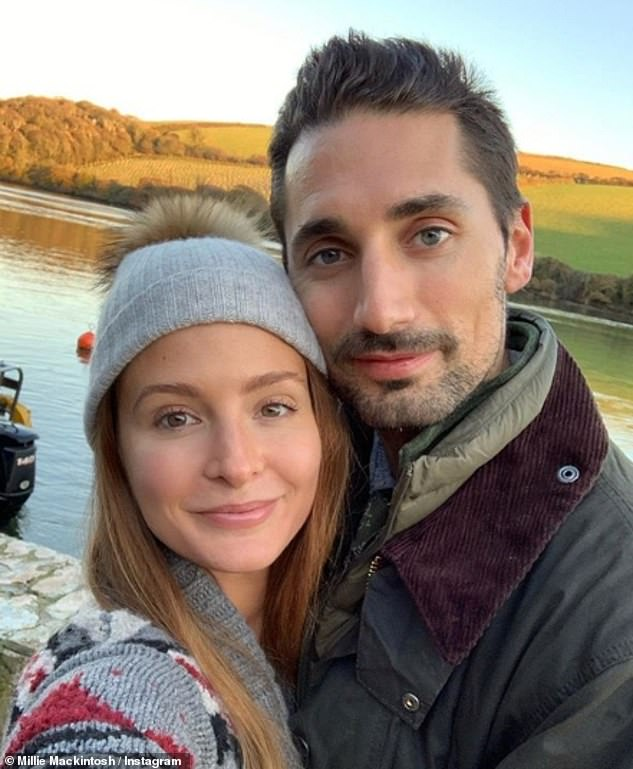 Congratulations! The former Made In Chelsea personality and her husband Hugo Taylor, 33, announced they were expecting a baby girl on Sunday evening (pictured)