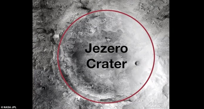 The location where NASA plans to land its rover on Mars is home to elements that could hold signs of ancient microbial life. Scientists are set to investigate the Jezero crater in the Mars 2020 mission, which was once a lake 3.5 billion years ago and is littered with hydrated silica and carbonates