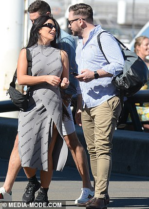 Chit chat: The Married At First Sight star was in her element socialising at the event