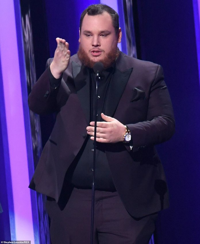 Luke's win: Luke Combs won the award for Beautiful Crazy, beating out Maren Morris' Girl, Blake Shelton's God's Country, Kacey Musgraves' Rainbow and Dan + Shay's Tequila