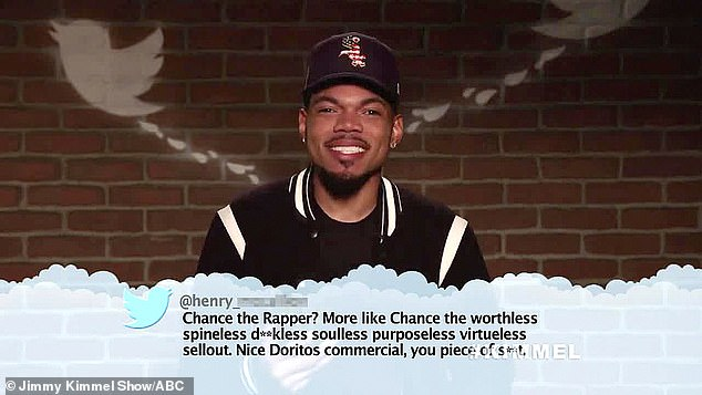 'What the f***?' Chance the Rapper joked that he couldn't believe that there were 'people that don't like' him after a Twitter user criticized his Doritos commercial