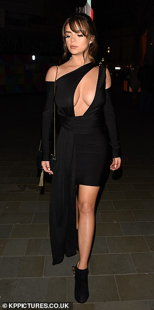 Star-studded: Glamour model Demi Rose was also in attendance