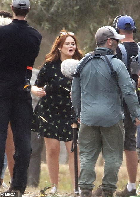 Lol! Behind-the-scenes seemed like a laugh a minute as Emily playfully engaged with the crew
