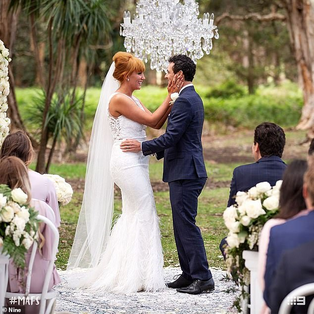 The countdown is on! MAFS stars Jules Robinson (left) and Cameron Merchant (right) are set to tie the knot this week in front of cameras for a televised special
