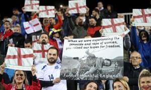 Kosovo fans in Pristina