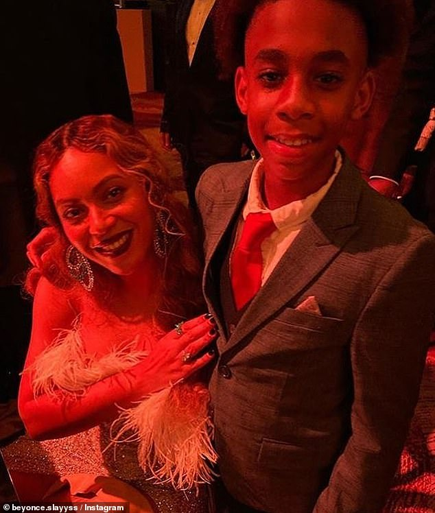 Hobnobbing:Child entertainer Dawan 'Wanny Boy' Brown, 13, posted an Instagram snap from the event of himself with none other than Beyoncé herself