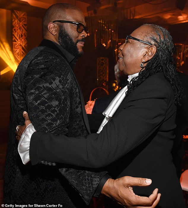 So many stars: Gloria also shared a chat and a mistake with Tyler Perry, who has recently opened a massive new studio in Atlanta