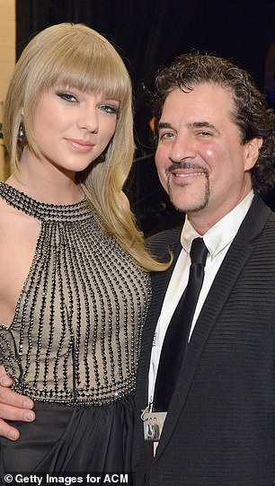 She had previously fumed to CBS Sunday Morning that she couldn't believe who Borchetta (right in 2013) sold her music to because they had had 'numerous conversations about Braun'
