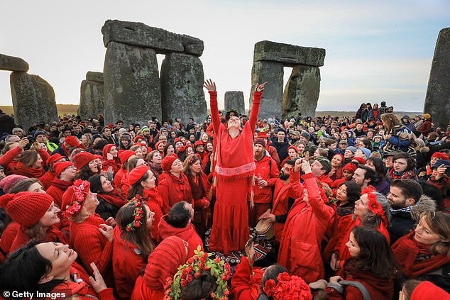 Researchers believe the Polish site, like Stonehenge (pictured above), was used for semi-regular religious rituals