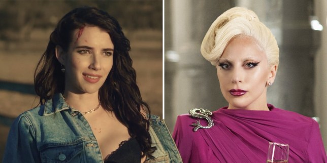 Emma Roberts and Lady Gaga in American Horror Story