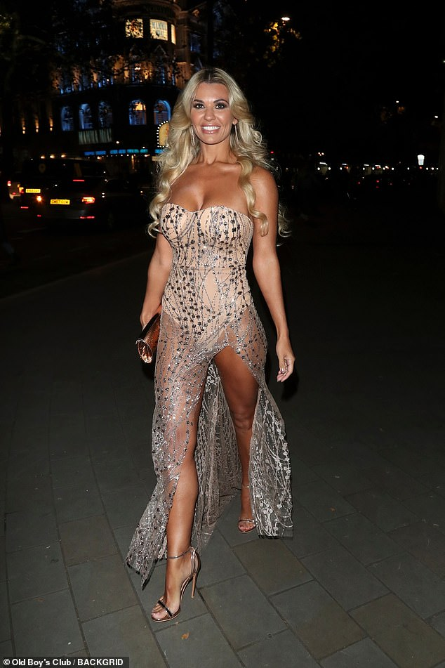 Wow:Christine McGuinness made a show-stopping arrival at the Float Like A Butterfly Ball, held in London's Grosvenor House Hotel, Park Lane on Saturday night
