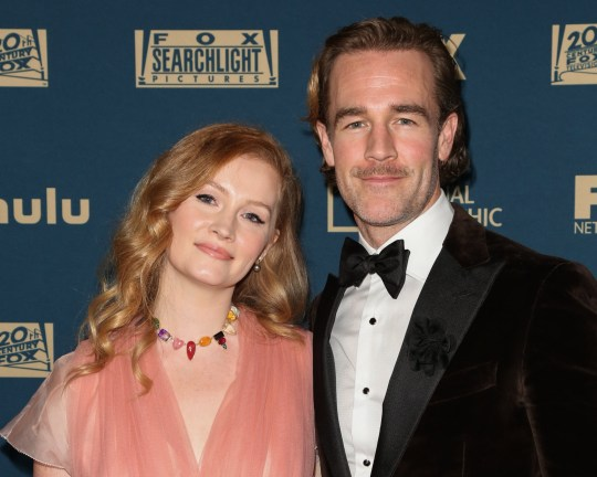James Van Der Beek and his wife Kimberly Brook (Picture: Paul Archuleta/FilmMagic)