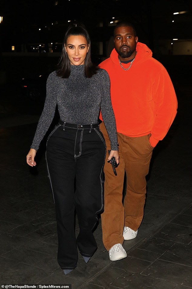 Calm before the storm: Kim Kardashian and Kanye West were spotted out on a date night on Saturday in Houston, Texas, ahead of Kanye's Sunday Service to a 45,000 person crowd