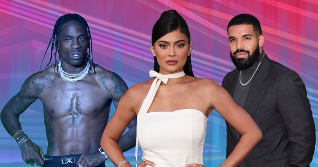 Travis Scott, Kylie Jenner and Drake