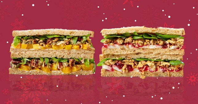 Two of the Christmas sandwiches from Pret A Manger's 2019 range