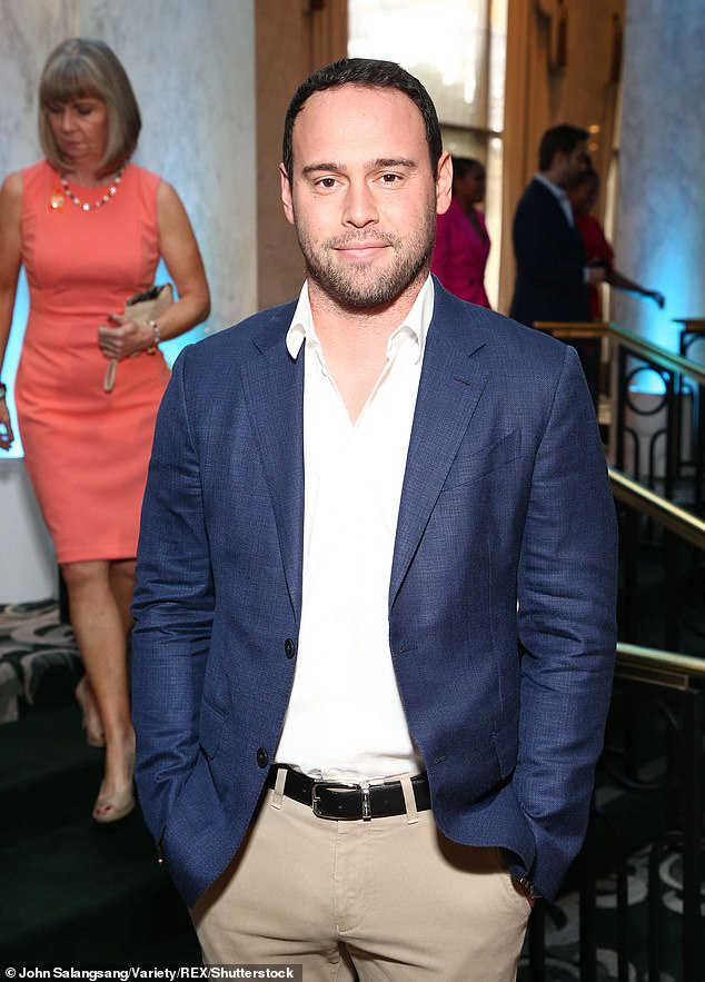 Man with the plan?Scooter Braun (seen in LA October 2018) has made his first comment since Taylor Swift was cleared to perform her earlier hits at the American Music Awards this Sunday