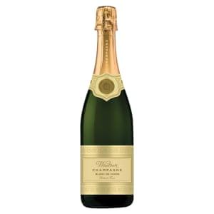 A Waitrose own-brand bottle of champagne