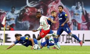 Ademola Lookman in action against Schalke this season.