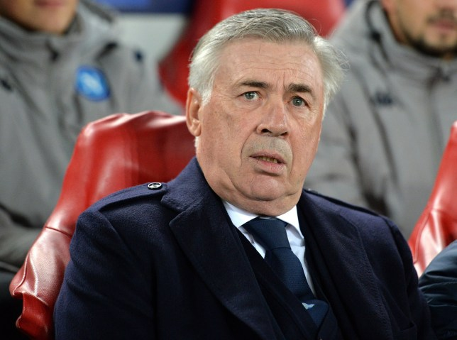epa08029620 Napoli head coach Carlo Ancelotti before the UEFA Champions League Group E match between Liverpool and SSC Napoli in Liverpool, Britain, 27 November 2019. EPA/PETER POWELL