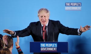 Boris Johnson delivers a victory speech to Tory party members.