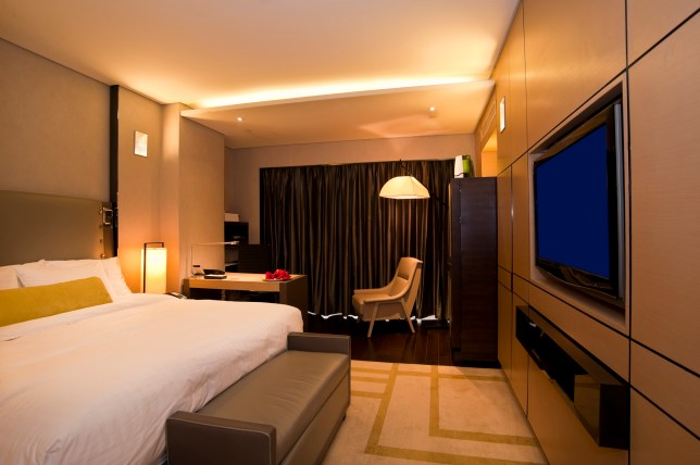 A stock image of a hotel room