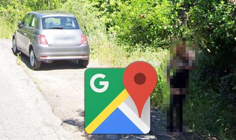 Google Maps Street View Woman Caught In Embarrassing Predicament