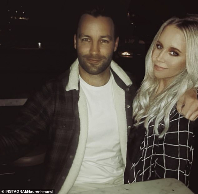 'Happy birthday JB, I love you': Jimmy Bartel's new girlfriend Lauren Mand gushed over the former AFL star on Wednesday as she shared a sweet tribute to him as he turned 36 (pictured is the snap she shared)
