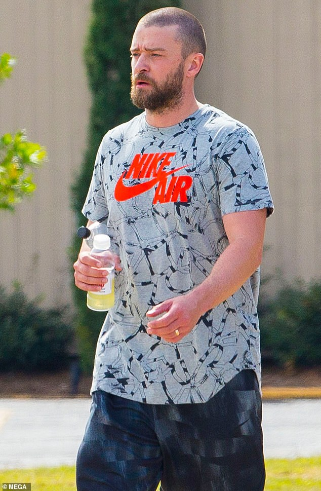 Stepping out: Justin Timberlake stepped out in New Orleans on Thursday, the first time he's been seen in public since apologizing to his family for his night out with Palmer co-star Alisha Wainwright