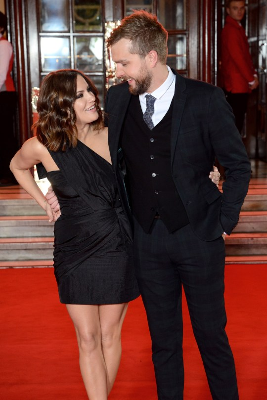Caroline Flack and Iain Stirling