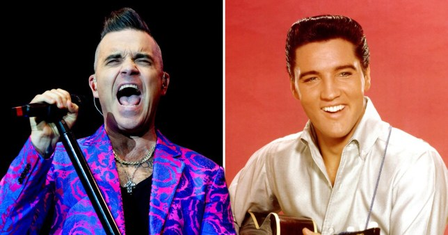 Robbie Williams is giving Elvis a run for his money