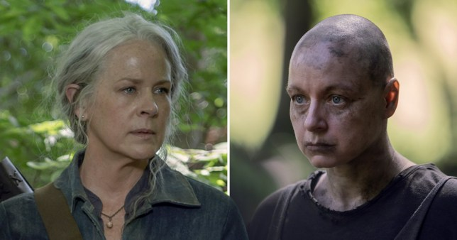 The Walking Dead's Samantha Morton as Alpha and Melissa McBride as Carol