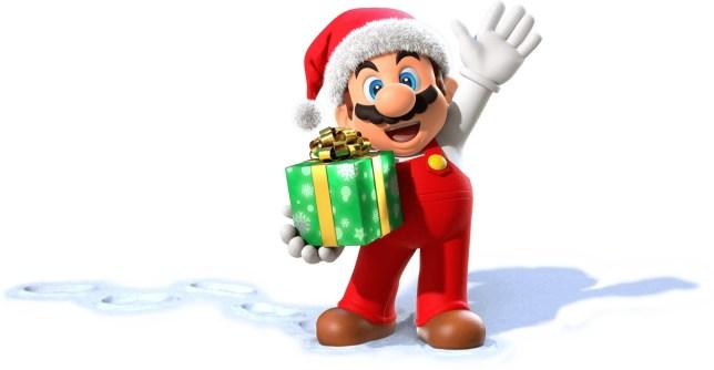 Super Mario as Father Christmas