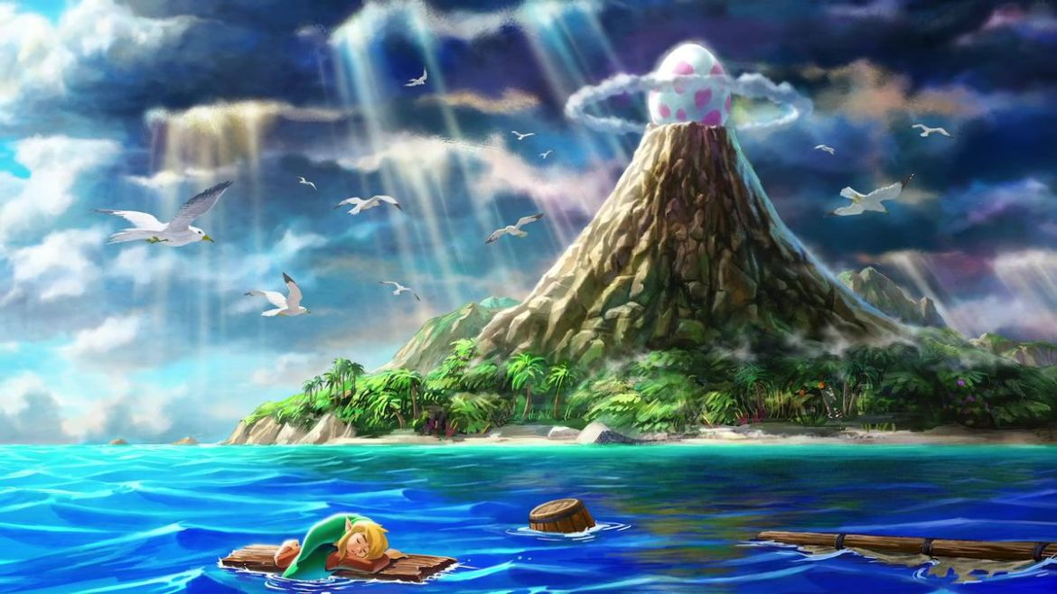 The Legend of Zelda: Link's Awakening (2019) - mountain island artwork