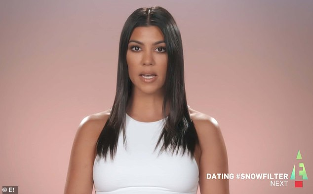 Private life: Kourtney in a confessional said, 'My sisters are pretty nosy when it comes to anything in my life, and I like to keep certain things private'