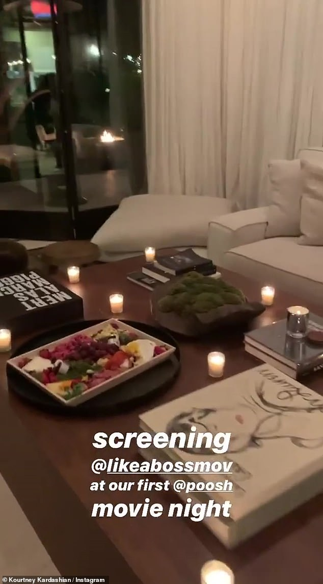 The coffee table: Kourtney had books on her table; one was about photo team Mert and Marcus