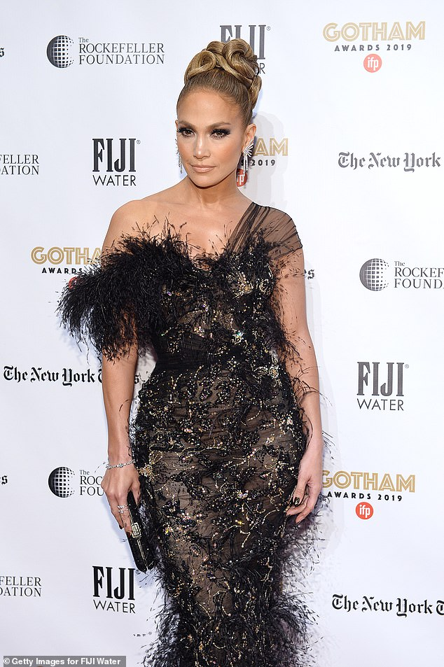 All decked out: Lopez attends the 2019 IFP Gotham Awards with FIJI Water at Cipriani Wall Street on December 2