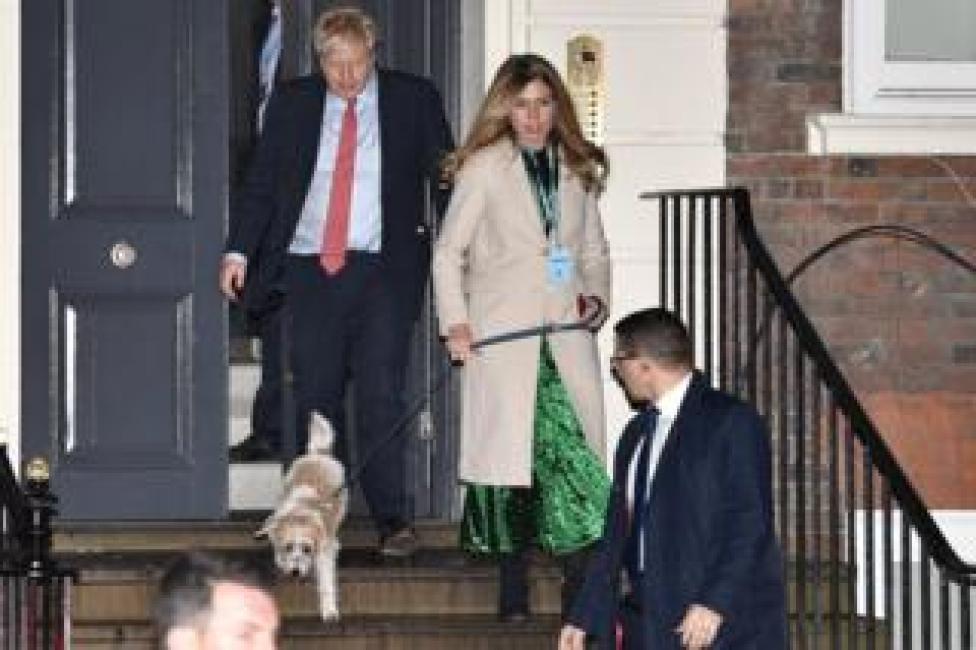 Boris Johnson, Carrie Symonds and their dog