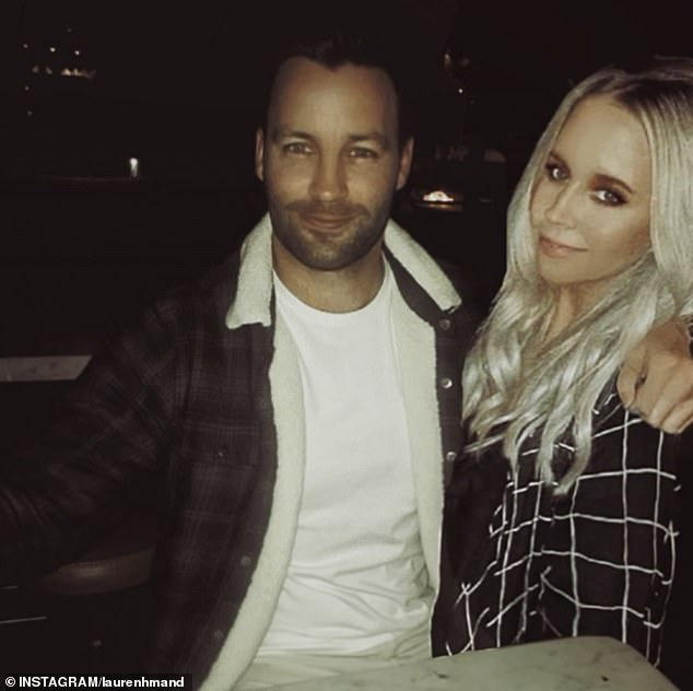That was quick! Jimmy's romance with Lauren Mand (right) was splashed across the tabloids just days later. Pictured earlier this week