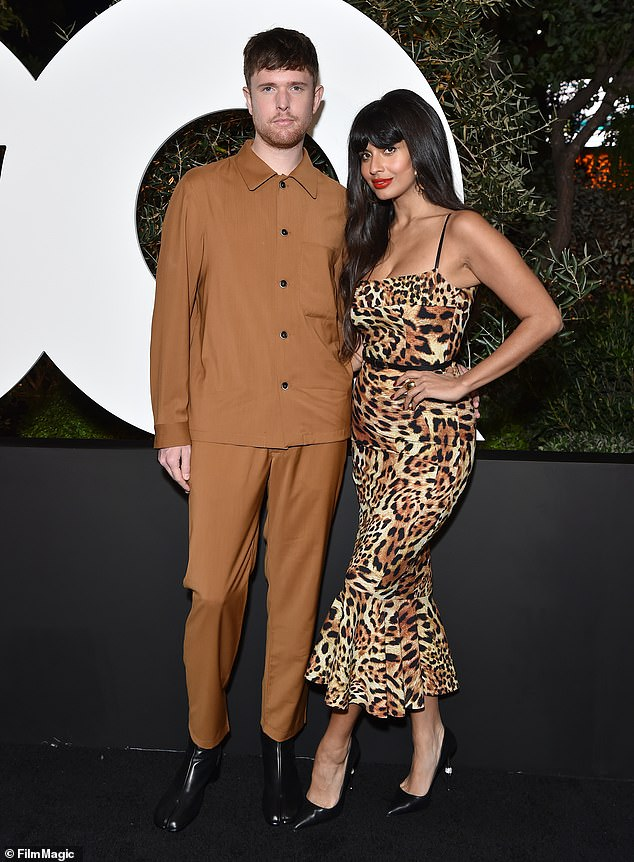 Smitten: Jameela has been in a relationship with James Blake since 2015