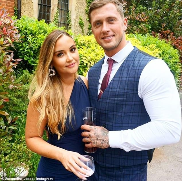 Loved-up:Reality star Dan poured his heart out in his speech, where he revealed just how much he missed her