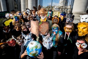 An Extinction Rebellion protest in Dublin, Ireland. Efforts are under way to make ecocide a crime.