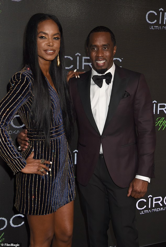 Candid: In April this year, Diddy opened up to Essence magazine about his final chat with the model and actress (pictured together in 2015)